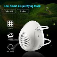 تنقية ELETRIC الغبار الوجه الحقيقي الذكية الطازجة PM2.5 الهواء مع التنفس قناع مروحة تصفية الضباب الدخاني التنفس الكهربائية