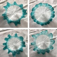 Hot Sale Hand Blown Glass Wall Lamp Home Decoration Light Blue Wall Plates for Living Room