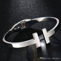 Charms famosa marca Pulseiras Abertas pulseiras de aço para mulheres Mãe diário jóias dom H Pulseiras
