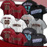 Custom Diam Diamondbacks 51 Randy Johnson Jersey 56 Kole Calhoun 40 Madison Bumgarner Jerseys 13 Nick Ahmed 53 Christian Walker Baseball
