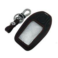 Écran LCD en cuir télécommande porte-clé à distance Sac clé de voiture Housse Shell pour BMW Série 7
