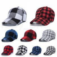 11 أسلوب الأحمر الجاموس تحقق قبعات حمراء منقوش قبعة بيسبول قبعة صغيرة منقوشة Casquette الكرة كاب حزب متقلب القبعات مستلزمات RRA3427