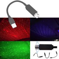 Projector de luz USB Mini LED Car Roof Estrela Noite Interior Ambient Galaxy Lamp ajustável múltipla Lighting Effects Decoração