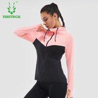 Vansydical Winter Sports Fitness Sportswear Training Equipment Running Jacket Gymnasium Zipper Yoga Jacket For Women