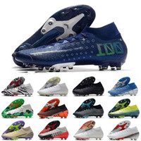 Mercurial Superfly CR7 VII 7 Elite 360 ​​AG Мужская обувь chuteiras Mbappe Бонди светоносный Future Lab Футбол Бутсы Бутсы