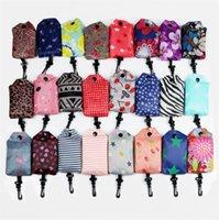Bolsas STOCKS dobrável Nylon Totes Sacos reutilizáveis ecologicamente correta Folding Bag Sacos Ladies armazenamento Protable Praia Totes E81801