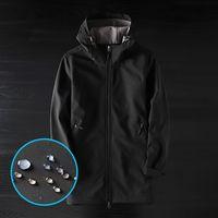 Men's cattle outdoor soft shell jacket men's mid-length overalls jacket