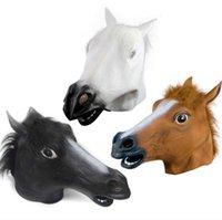 Cosplay Halloween Paard Hoofd Masker Dierlijke Partij Kostuum Prop Toys Novel Volledige Gezicht Hoofd Maskers met Sea Shipping CCA12442 50PCS