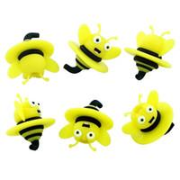 1.2 '' couvercle silicone Carp Cap abeilles domestiques antiadhésives Quartz Carb Cap cap Bubble Carps Dabber pour fumer