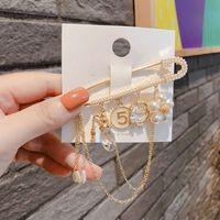 Klasik Tasarım Pin Broşlar Kristal Yay Çiçek Inci Kamelya 5 Broşlar Pins Takı Vintage Toka Pin