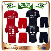 20/21 F C C C Twente Kit Kit de Futebol Jerseys 2021 Home Menig Selahi Aburjania Camisa De Fora Preto Crianças Roemeratoe Futebol Uniformes