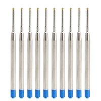 10PCS الأسود الحبر العالمي نمط قياسي 1MM الكرة نقطة القلم الغيارات متوسط طرف مستدق X6