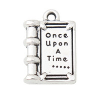 Mode Groothandel Alloy Book Shape Charms Once upon A Time Jewelry DIY Charms 12 * 18mm 100 stks AAC1081