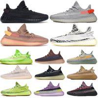Livraison gratuite Kanye West des femmes des hommes Chaussures de course Yeshaya yecheil ZYON Oreo Desert Sage Linen femmes réfléchissantes formateurs chaussures de sport