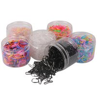 Über 500 Stück / box elastische TPU-Haar-Halter Tie Gummi-Ringe Gummi Haarband Seil Silikon-Pferdeschwanz-Halter-Haar-Accessoires