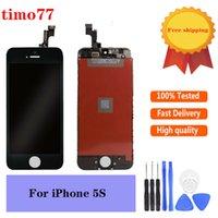 Süper Kalite Cep Telefonu Dokunmatik Paneller iPhone 5 5G 5C 5 S SE Siyah Beyaz LCD Ekran Digitizer Değiştirme ile Cam Temperli