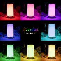 폭발 LED 램프 터치 머리맡 밤 빛 공장 직접 판매 테이블 램프 아마존의 새로운 RGB 다채로운 분위기 조명