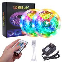 Risparmio energetico in plastica luci di striscia 300-LED SMD3528 24W RGB IR44 luce di striscia Set con telecomando IR controller