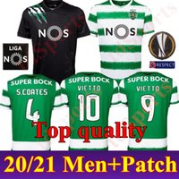 Novo 2020 2021 Sporting Clube de Futebol Jersey Lisboa Sporar Acuna Camisa Mens 20 21 Home Away # 10 Vietto Raphinha Phellype Uniforme de Futebol