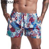 JOCKMAIL Mens Bermudas plage Shorts de planche motif de dessin animé imprimé fleur Maillots de bain Pantalons de natation Hommes Surffing short