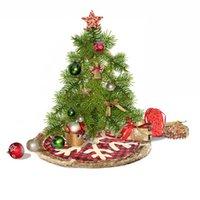 Albero di Natale gonna plaid rosso del fiocco di neve Albero Gonne XAMS partito Derocationg Forniture Finestra decorazione dell'albero di Natale regalo Ornamention LJJP356