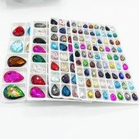 Branelli sciolti di cristallo di cristallo di cristallo di vetro a lacrima di colori misti 7x10mm 10x14mm 13x18mm 18x25mm