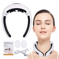 1pcs Electric Pulse Cervical Neck Massager Health Care Relaxation Tool Intelligent Cervical Massager Far Infrared Heating Pain