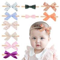 Haarschmuck 1 Stück Lytwtw's Baby Bowknot Stirnband Mädchen Haarband Kopf Band Kind Elastic Born Kleinkinder Blumenkleidung