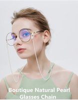 5A Boutique Natural Eleglant Women Pearl Glasses  Sunglasses Chain 70cm Enviromental No-stimulation pearly luster decoration anti-slip chain