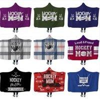 Hockey Hooded blankets Plush Sherpa Blanket Xmas 3D Printed Cape Cloak Fleece Soft Winter Swaddling Bedding Quilt Nap Wraps OOA8371