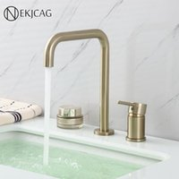 Rose gold Basin Faucet Bathroom Deck Mounted Basin Faucet Si...