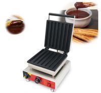 CE comercial churros aprobados equipos de panadería máquina para hacer gofres comercial churros españoles galleta máquinas cono de galleta placa de hierro