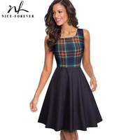 Niza-Forever Summer Pinup Pinup Vestidos Casual Mujeres Flote Dress Dress A082