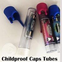 PACKWOODS Kindergesicherte Caps vorgerollten Schläuche Gelenke 6 Farben Aufkleber Verpackung 120 * 24 mm für trockene Blumen leere Flasche Plastikschlauch 500 Stück / Karton