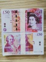 Nachtclub Bar British United Kindom Banknoten 50 Pfund Hinweis für Sammlung oder Business-Geschenke Prop und Falschgeld Papier GBP Preise Bills 89