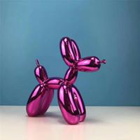 25CM بالون الكلب اللون تخصيص نمط تصميم بالون الكلب الخاص تمثال الحديثة النحت الديكور المنزلي بلدغ لعبة الراتنج الفن حلية