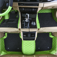 Custom Fit Car Floor Mats Specific Double Layer Leather ECO ...