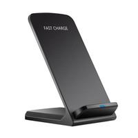 Yüksek Kalite Q740 Hızlı Kablosuz Şarj Foriphone Samsung 10 W Qi Indüksiyon Şarj Cep Telefonu Tutucu Gösterge Işık Toptan
