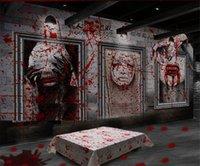 Хэллоуин Кровавая Tablecover Scary Bloodstain Blood Drip Horror Handprint Скатерть Halloween Фартук Bloody украшение партии D82804