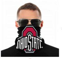 Maschere NCAA Ohio State Buckeyes senza saldatura Buff Sciarpa Shield Bandana viso Protezione UV per il motociclo in bicicletta riding Cerchietti