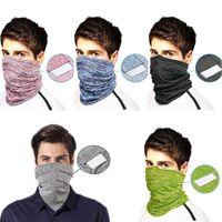 Взрослый шарф Бандана Обложка для лица с фильтром Карманный Балаклава Мода шеи Gaiter Защитная повязка для Мужчины Женщины Half Face Mask DHE1119