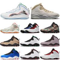 nike air jordan retro 10 10s Zapatos de la moda retro de baloncesto del Mens calidad superior Westbrook JUMPMAN Camo del desierto de Tinker Chicago Cemento Sport zapatillas deporte
