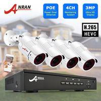 نظام المراقبة 3MP نظام الكاميرا CCTV POE NVR كيت Onvif أمن كاميرا HD IP في الهواء الطلق للماء Anran