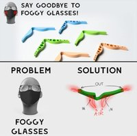 Silikon Burun Köprü Pedleri Burun Köprüleri Esnek Tasarım Anti Sis Koruma Şerit Aksesuar Gözlük Önlemek Anti-Sisleme Klip GWA8742