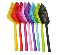 2020 Cooking Shovels Vegetable Strainer Scoop Nylon Spoon Large Colander Soup Filter Pasta Heat Resistant Strainer Fashion Kitchen Tools