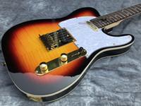 E-Gitarre der neuen Art, Flammenahornholzkorn- und Ascheholzfarbe können angepasst werden.