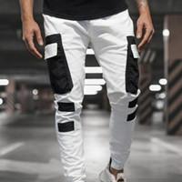 Erkek Harem Koşucular Erkekler Kargo Pantolon Streetwear Hip Hop Günlük Cepler Parça Pantolon Erkek Harajuku Moda Pantolon