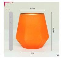 2021 la vendita calda creativa di colore satinato sei remarono bicchiere di whisky stile di diamante di vetro europea Glass Cup 015
