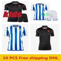 الرجال + الاطفال 2020 2021 ريال سوسيداد X.PIETO JUANMI Soccer Jerseys 20 21 الصفحة الرئيسية Stripe Agirretxe Carlos الجمعية الملكية قمصان كرة القدم الزرقاء