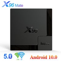 X96 Mate TV Boîte Android 10 Support 2.4g5g Dual WiFi Google Voice Assistant 4K 60fps Support Google Player Netflix YouTube X96